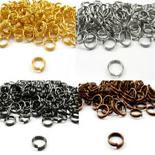 4/5/6/8/10/12/14mm Silver Gold Open Double Split Jump Rings Connectors Findings