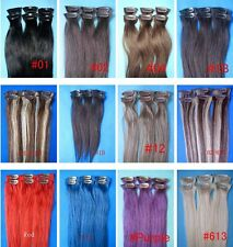 Beauty 15inch 20inch 6pcs clip in human hair extension straight free shipping au