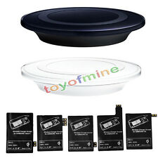 Qi Wireless Charging Pad Charger+ Ricevitore P/ Samsung Galaxy S3/4/5/6 Nota 2/3