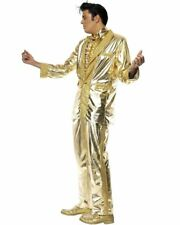CL468 Gold Elvis Presley Licensed Men Costume Rock and Roll 50s Rock Star Outfit