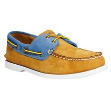 Timberland Men's Earthkeepers Brig 2Eye Leather Boat Shoes WHEAT 6503A ALL SIZES