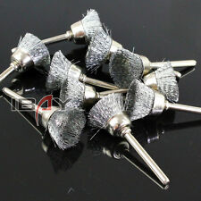 Lots Sliver Steel Wire Cup Brush Fit Rotary tools Die Grinder New