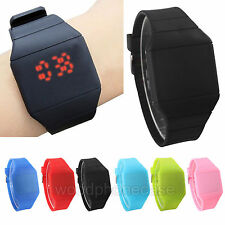 Hot Ultra Thin Light Men Women Silicone LED Touch Sports Bracelet Wrist Watch