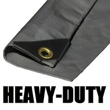 EXTRA Heavy Duty 12 mil Silver Tarp 3 Ply Coated Reinforced Canopy 6 oz 3 Layer