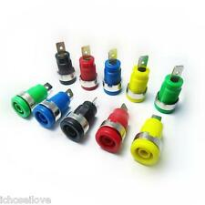 New 4mm Binding Post Banana Jack Plug Socket Connectors Panel Mount 5 Colors