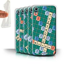 STUFF4 Gel/TPU Case/Cover for HTC Desire 626/Scrabble Words