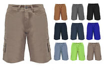 NEW MENS SUMMER COTTON COMBAT CANVAS CHINO JEANS SHORTS SIZE 28 30 32 34 36 38