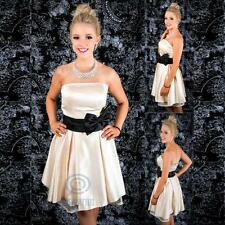 Strapless Neckline Bow Dress Formal Prom Ball Gown Bridesmaid Wedding Party
