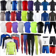 Herren Kompression Funktionswäsche Leggings Unterhemd Baselayer T-shirts Fitness