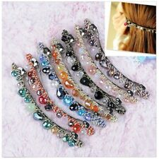 New Womens Korean  Crystal Rhinestone Barrette Hairpin Hair Clip Accessories