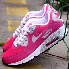 Youth / Womens Nike Air Max 90 Running Sneakers New, Hot Pink / White 345017-600