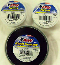 45 LB, 30 FEET - AFW 1X7 SURFLON - COATED - STAINLESS STEEL FISHING WIRE