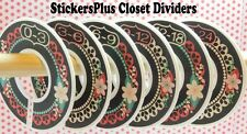 Closet Size Dividers Clothes Organizers Baby Girl Chalkboard Chalk Floral Lace