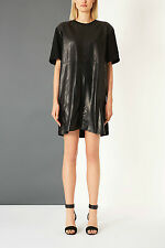 @STUDIO LUXURY NWT £180 Designer BOUTIQUE LEATHER Dress  Made in Britain Topshop