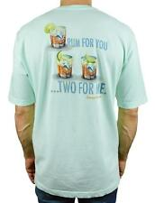 NEW TOMMY BAHAMA RUM FOR YOU TWO FOR ME MENS SHORT SLEEVE T-SHIRT ICE TURQUOISE