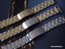 STAINLESS STEEL OYSTER WATCH BRACELET BAND STRAP WATCHBAND 18MM 20MM 22MM 24MM