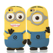 Despicable Me Minions Soft Silicone Case Cover for Apple iPhone 4 5 6 7 8 Plus