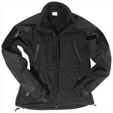 Tactical Soft Shell Mens Windproof Jacket Coat Police Guard Security Black S-3Xl