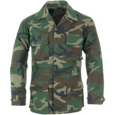 Teesar Tactical Mens Bdu Uniform Shirt Ripstop Cotton Hunting Jacket Woodland