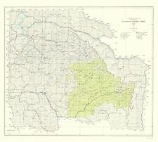 Topographical Map - Clearwater National Forest Idaho - USDA 1961 - 23 x 25.60