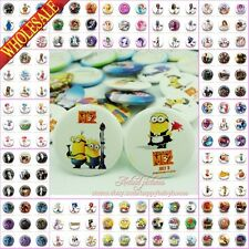 9PCS Despicable Me/Minions Inside Out Cartoon Buttons Pins Badges,Brooch Badges