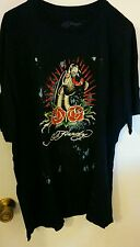 ED HARDY MEN'S PANTHER NAVY COTTON T-SHIRT NEW