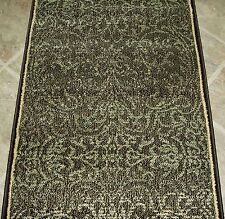 """152914 - Rug Depot Hall and Stair Runner Remnants - 26"""" Wide - Brown Rug Runner"""