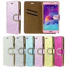 Fashion Bling Glitter Wallet Flip Leather Case Cover For Samsung Galaxy Note 4