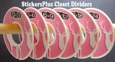 Closet Size Dividers Clothes Organizer Baby Toddler Girl Deer Hunter Pink White