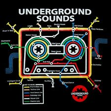 old school Music Cassette Tape subway map Men's DJ T-SHIRT echno trance goa S-XL