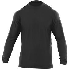 5.11 Tactical Winter Mock Mens Base Layer Shirt Long Sleeve Underwear Top Black