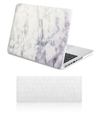 Macbook Pro 13 Retina Case - Hard Case Print Frosted-White Marble Pattern Cover