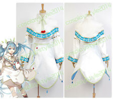 Vocaloid 3 Project DIVA COSplay Costume Snow Miku Hatsune Dress Outfit Kimono