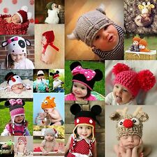 Newborn Baby Crochet Hat Knitted Beanie Boys Girls Photography Props Winter Warm