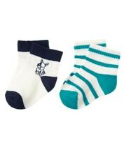GYMBOREE TINY TEAL PUPPY N STRIPE 2-PAIR OF BOYS SOCKS 6 12 NWT