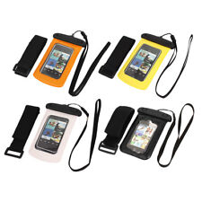 "Waterproof Case Dry Bag Skin Cover Pouch + Earplug Earphone for 4"" Cell Phone"