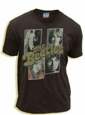 Classic Rock Music Band The Beatles Squares Black Wash Adult T-Shirt Tee