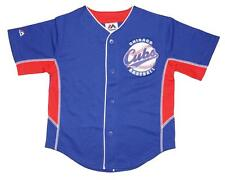 NWT Majestic Chicago Cubs MLB Boys 4-7 Team Leader Jersey - Royal Blue