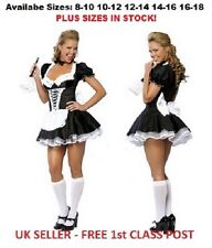 Sexy maid uniforme français fancy dress costume outfit UK Stock Taille 8-16 plus taille