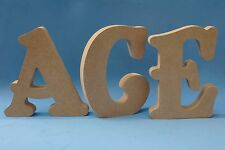 18mm thick Freestanding / Wall MDF Wood Letters & Numbers Height 15cm 20cm