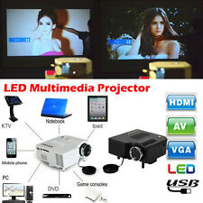 New Mini 1080P HD HDMI LED Projector Home Cinema Theater PC Laptop AV VGA USB SD