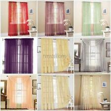 Wholesales Door Window Curtain Drape Panel or Scarf Assorted Scarf Sheer Voile