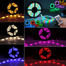 5M 3528 60LEDs/m Flex LED Strip Light Bar Roll Rope Tape Adapter Kit Cutable 12V