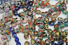 * Ceramic * Excellent Designs - 50 Beads/Pack * Round & Oval Shape