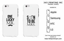 One Lucky Mr and Soon to be Mrs Couple Matching Phone Cases Engagement Gifts