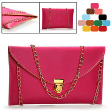 Women's Lady Envelope Baguette Clutch Chain Shoulder Handbag Wristlet Bag Purse