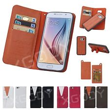 Flip Magnetic Leather WALLET Card Case Cover for Samsung Apple iPhone 6/ 6 Plus