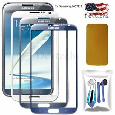 Front Outer Screen Glass Lens Replacement Part for Samsung Galaxy NOTE 2 Tools