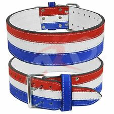 ARD Genuine Leather Power Heavy Duty Weight Lifting Body building Belt Flag Colr
