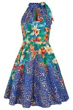Traffic People Tie Neck Dress,  Aloha Aina Print